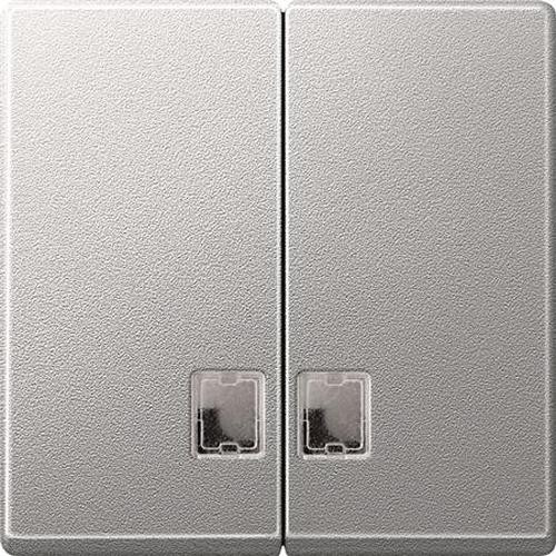 Merten 437560 Serienwippe mit Symbolfenster Aluminium