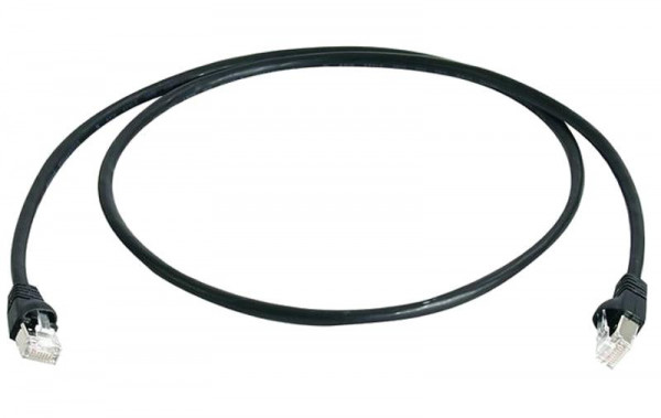 Telegärtner L00000A0235 Patchkabel Cat.6A Schwarz 0,25m