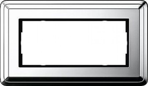 GIRA 1002641 Rahmen 2-Fach ohne Mittelsteg ClassicX Chrom
