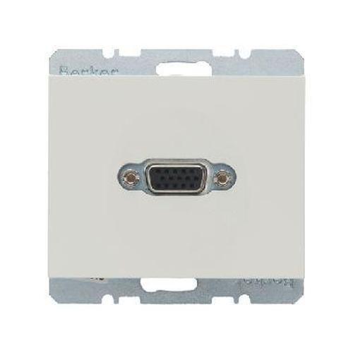 Berker 3315417009 VGA Steckdose mit Schraub-Liftklemmen K.1 Polarweiß, Glänzend
