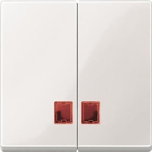 Merten MEG3456-0319 Doppelwippe mit rotem Symbolfenster Polarweiß-Glänzend