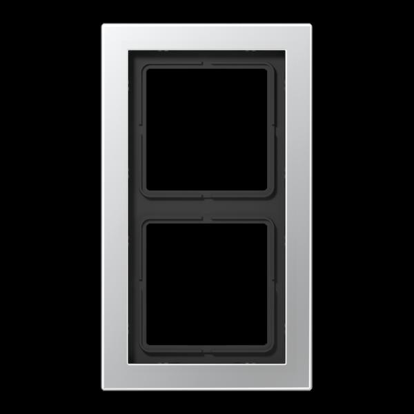 JUNG ALD2982 Rahmen 2-Fach LS-Serie Aluminium