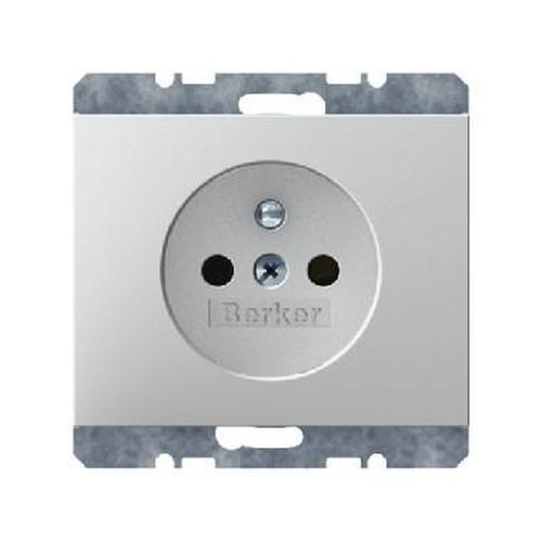 Berker 6768757009 Steckdose mit Schutzkontaktstift erhöhtem Berührungsschutz K.1 Polarweiß Glänzend