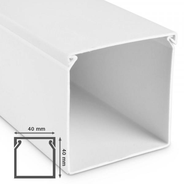 kabelkanal 40x40x2000mm alpinwei kabelkanal reinwei bohren masta kabelkanal kunstoff. Black Bedroom Furniture Sets. Home Design Ideas