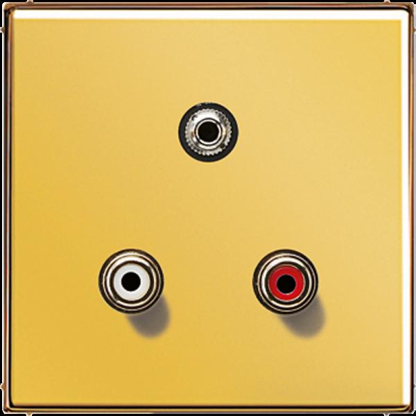 JUNG MAGO1011 Cinch Audio-Miniklinke 3,5 mm Goldfarben