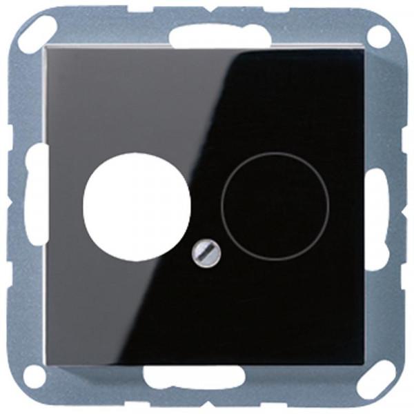 JUNG A562SW Abdeckung für 2 Kleinsteckdosen Schwarz
