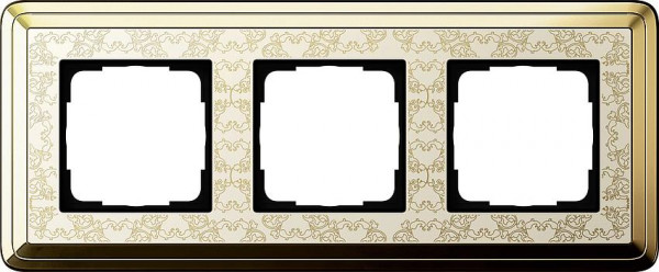 GIRA 0213673 Rahmen 3-Fach ClassicX Art Messing-Cremeweiß