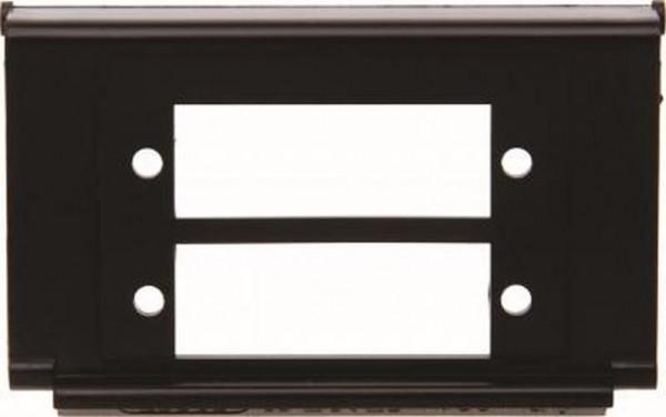 Berker 111221 Montageplatte für 2 x LWL-Kupplungen Duplex SC Zubehör Schwarz