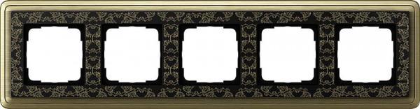GIRA 0215662 Rahmen 5-Fach ClassicX Art Bronze-Schwarz