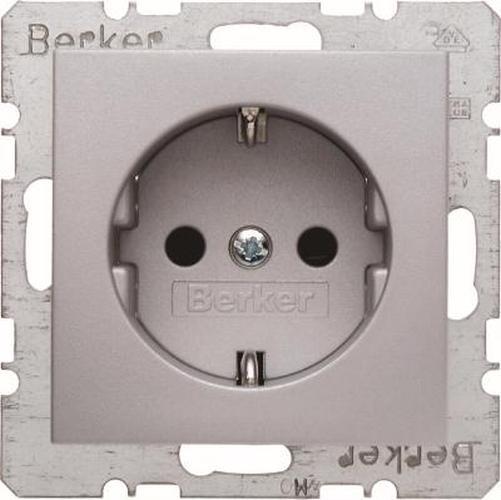 Berker 47231404 Steckdose SCHUKO mit erhöhtem Berührungsschutz B.7 Alu Matt, Lackiert