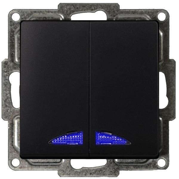 Visage Serienschalter mit LED Schwarz