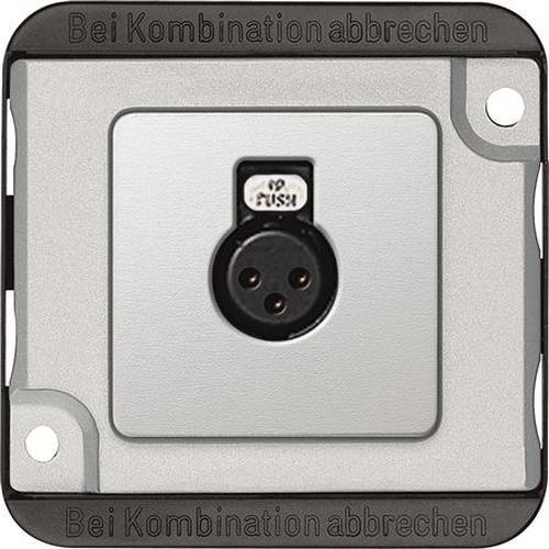 Merten 460860 Audio-Steckbuchse Mattsilber