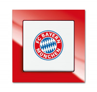 """Busch-Jaeger 2000/6UJ/03 Aus/Wechselschalter Fanschalter """"Bayern München"""""""