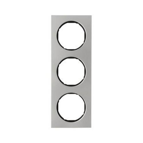 Berker 10132204 Rahmen 3Fach R.3 Edelstahl/Schwarz