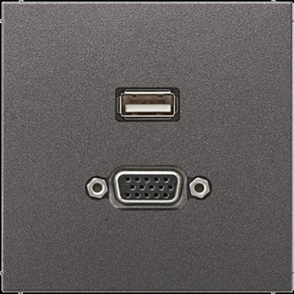 JUNG MAAL1183AN USB2.0-VGA Anthrazit