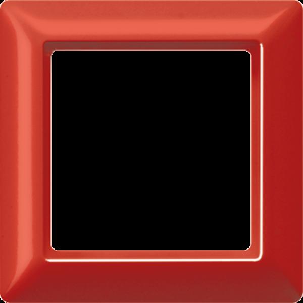 JUNG AS581GLRT Rahmen 1-Fach mit Glasscheibe Rot