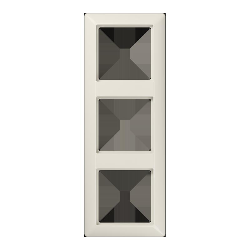 jung as583 rahmen 3 fach cremewei cremewei rahmen as. Black Bedroom Furniture Sets. Home Design Ideas
