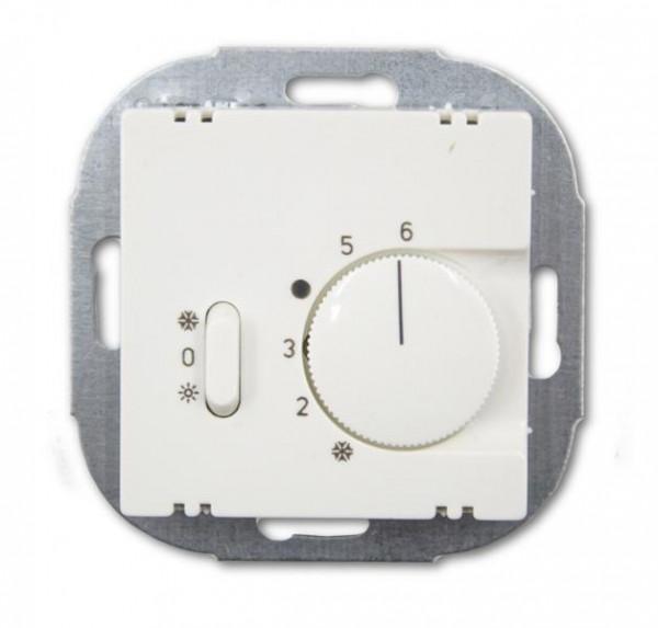Alre Einsatz Raumtemperaturregler mit Schalter Heizen/ AUS/ Kühlen Reinweiß Glänzend