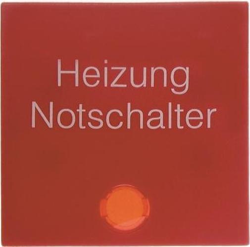 Berker 16211902 Wippe mit roter Linse und Aufdruck 'Heizung' S.1/B.3/B.7 Rot, Matt