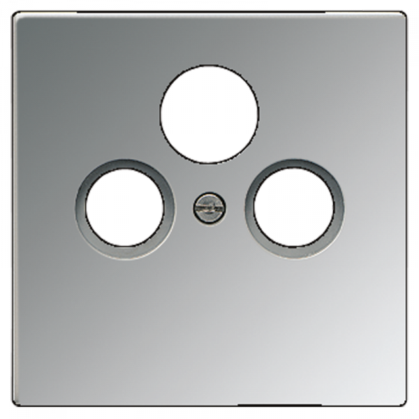 JUNG GCR2990SAT Abdeckung TV 3-Loch Glanz-Chrom