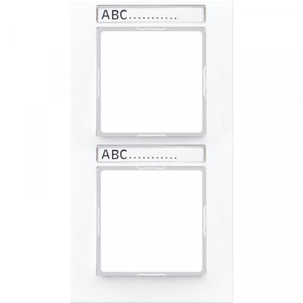 JUNG AC582BFNAWW Rahmen mit Schriftfeld 2-Fach Alpinweiß