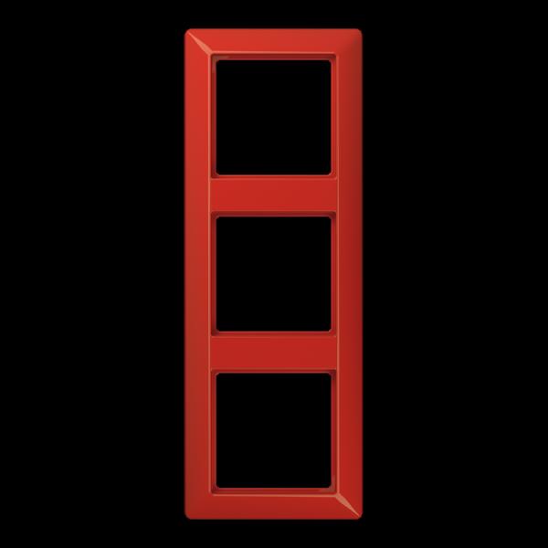 JUNG AS583BFRT Rahmen 3-Fach Rot