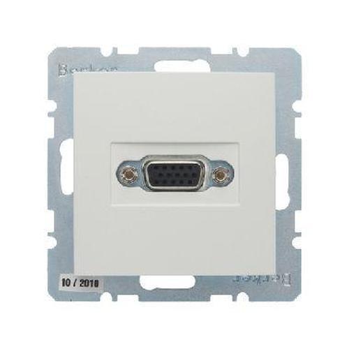 Berker 3315418989 VGA Steckdose mit Schraub-Liftklemmen S.1/B.3/B.7 Polarweiß, Glänzend