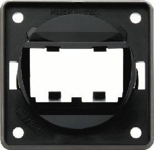 Berker 9455905 Tragplatte 2fach für MINI-COM Module, Integro Modul-Einsätze, Schwarz Gl.