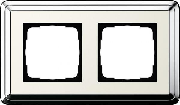 GIRA 0212643 Rahmen 2-Fach ClassicX Chrom-Cremeweiß