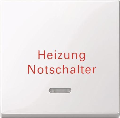 """Merten 435125 Kontroll-Wippe mit Aufdruck """"Heizung Notschalter"""" Aktivweiß-Glänzend"""