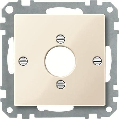 Merten 469044 Zentralplatte für Audio-Stecker XLR Weiß-Glänzend