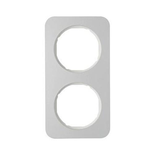 Berker 10122174 Rahmen 2Fach R.1 Alu/Polarweiß