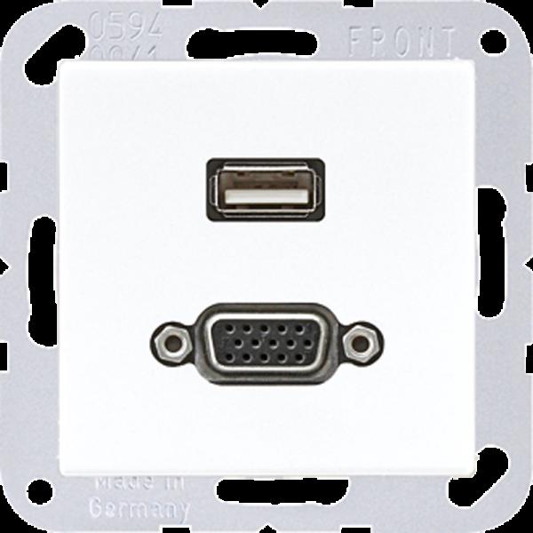 JUNG MAA1183WW USB2.0/VGA Alpinweiß