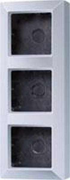 JUNG AS583AAL Aufputz-Kappe 3-Fach Aluminium