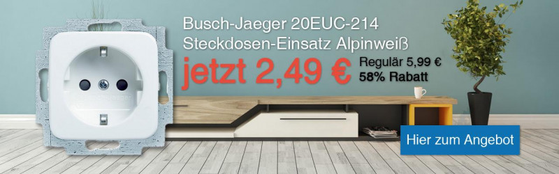 schalter steckdosen von busch j ger online bestellen steckdosen24. Black Bedroom Furniture Sets. Home Design Ideas
