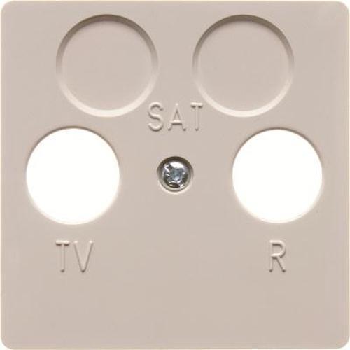 Berker 148602 Zentralplatte für Antennen-Steckdose 2Loch Zentralplattensystem Weiß, Glänzend