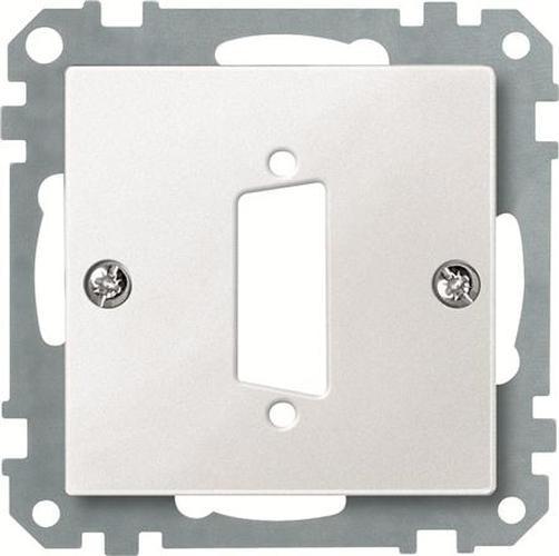 Merten 468219 Zentralplatte für D-Subminiatur-Steckverbinder 15-Polig Polarweiß