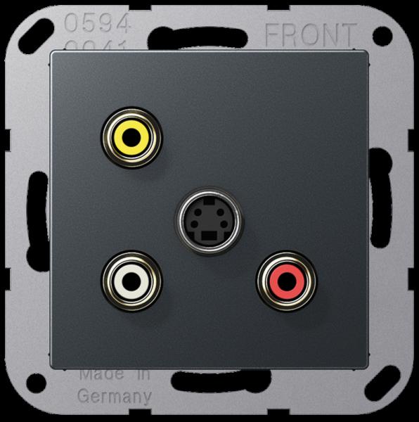 JUNG MAA1051ANM Cinch Audio-Composite Video-S-Video Anthrazit-Matt