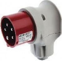 Berker 578001 CEE Winkelstecker 5-polig 16 A Verbindungssysteme Grau/Rot