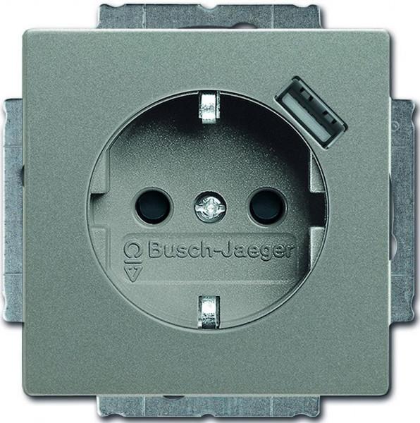 Busch Jaeger Future Linear Steckdose mit USB Davos-Studioweiß 20EUCBUSB-84