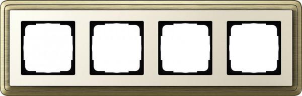 GIRA 0214623 Rahmen 4-Fach ClassicX Bronze-Cremeweiß