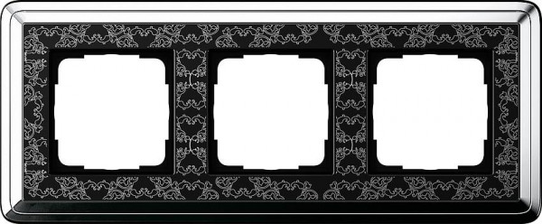 GIRA 0213682 Rahmen 3-Fach ClassicX Art Chrom-Schwarz