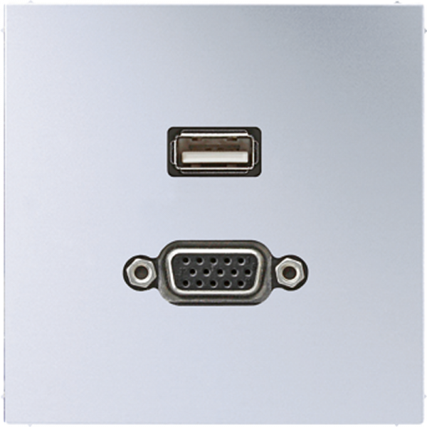 JUNG MAAL1183 USB2.0-VGA Aluminium