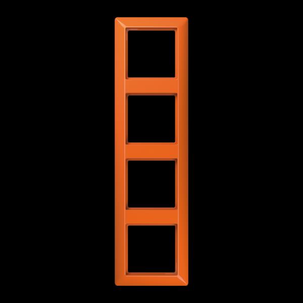 JUNG AS584BFO Rahmen 4-Fach Orange