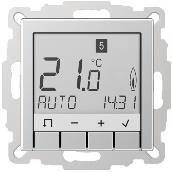 JUNG TRUDA231AL Raumtemperaturregler Universal mit Display Aluminium