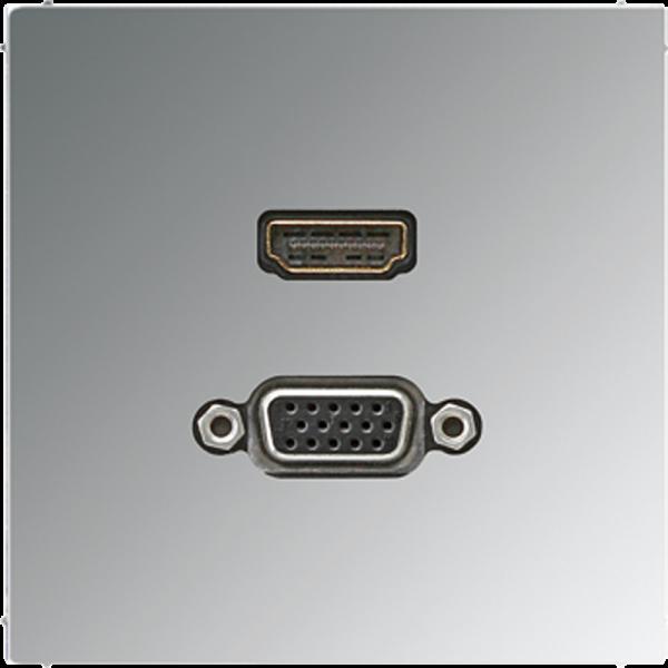 JUNG MAGCR1173 HDMI-VGA Glanz-Chrom