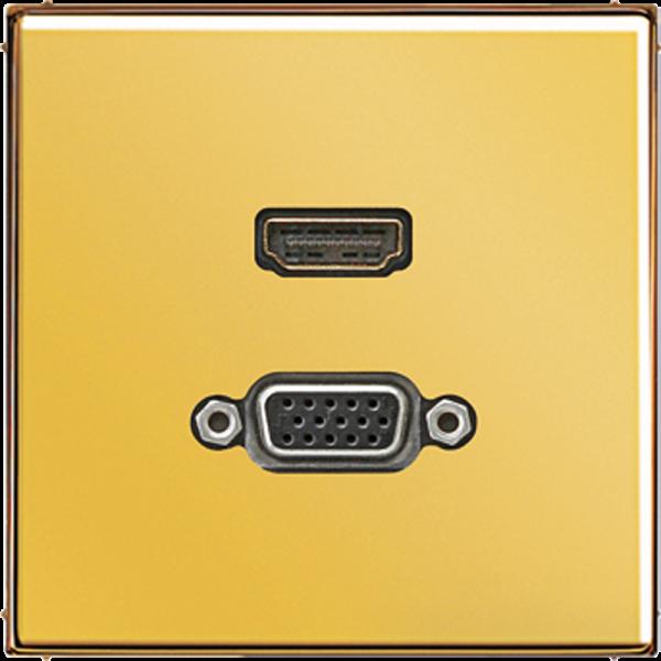 JUNG MAGO1173 HDMI-VGA Goldfarben