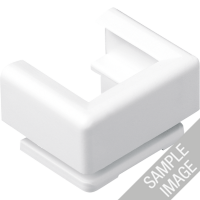 JUNG 12 Kabel-, Rohr- und Kanal-Einführungen für Kabelkanal 15 x 15mm Cremeweiß