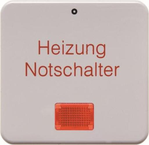 Berker 156909 Wippe 'Heizung' mit roter Linse wg Up IP44 Polarweiß, Glänzend