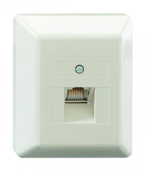 RUTENBECK 13010106 UAE 8(8) Ap Anschlußdose Creme-Weiß
